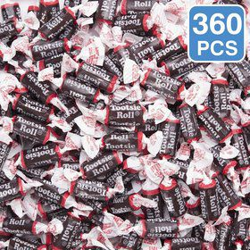 Black Chocolate Tootsie Rolls (360 Pieces)