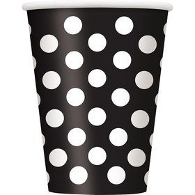 Black Dots 12oz Cups (6 Pack)
