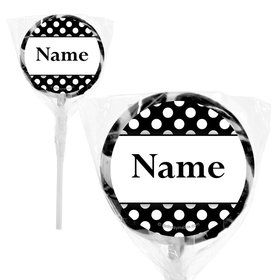 "Black Dots Personalized 2"" Lollipops (20 Pack)"
