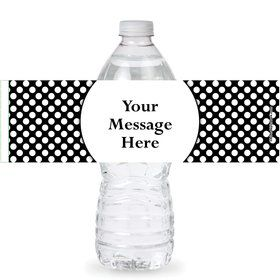 Black Dots Personalized Bottle Labels (Sheet of 4)