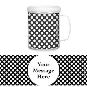 Black Dots Personalized Favor Mugs (Each)