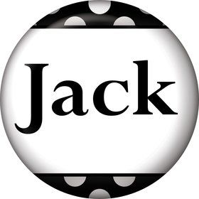 Black Dots Personalized Mini Button (Each)
