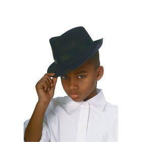 Black Durashape Fedora Child Hat