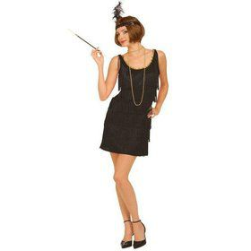 Black Flapper Adult Plus Costume