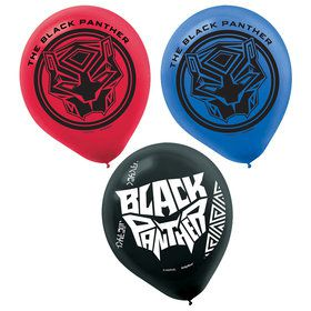 Black Panther Latex Balloons (6)