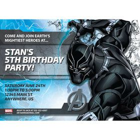 Black Panther Personalized Invitation (Each)