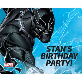 Black Panther Personalized Rectangular Stickers (Sheet of 15)