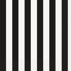 Black Stripe Lunch Napkins