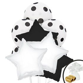 Black White Balloon Bouquet