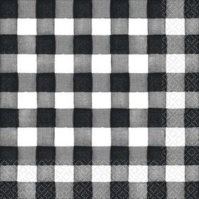 Black & White Check Lunch Napkins