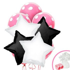Black White Pink Balloon Bouquet