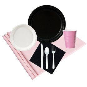 Black White Pink Party Pack (24)