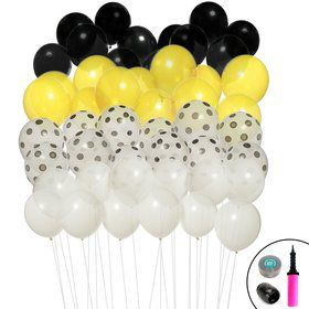 Black Yellow Ombre Balloon Kit