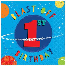 Blast Off 1st Birthday Lunch Napkins (16)