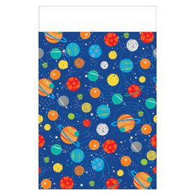 Blast Off Birthday Plastic Tablecover