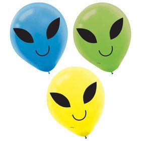 Blast Off Birthday Printed Balloons (15)