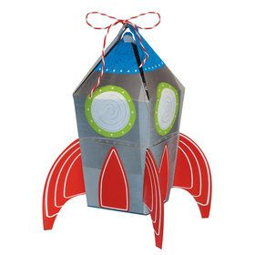 Blast Off Birthday Rocket Favor Boxes (8)