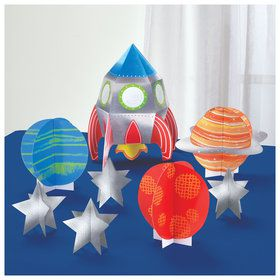 Blast Off Birthday Table Centerpiece Decorating Kit