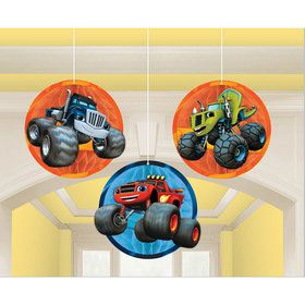 Blaze and the Monster Machines Honeycomb Decorations (3 Pack)
