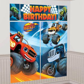 Blaze and the Monster Machines Scene Setters?Wall Decorating Kit