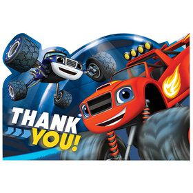 Blaze and the Monster Machines Thank You Cards (8 Pack)
