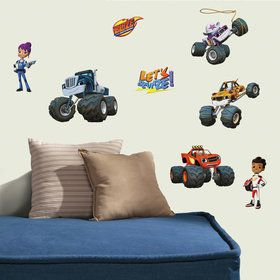 Blaze and the Monster Machines Wall Decals (28 Pieces)