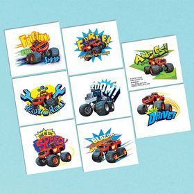Blaze and the Monster Machines Tattoo Favor Sheet (1)