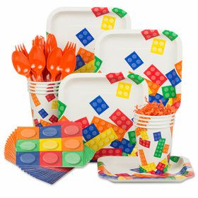 Block Party Birthday Standard Tableware Kit (Serves 8)
