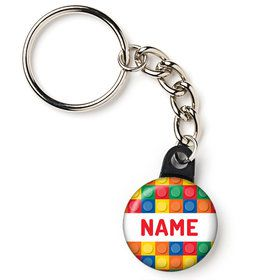 "Block Party Personalized 1"" Mini Key Chain (Each)"