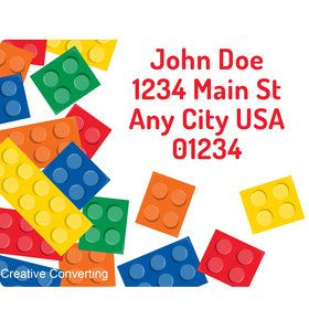 Block Party Personalized Address Labels (Sheet of 15)
