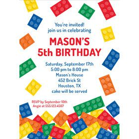 Block Party Personalized Invitation (Each)
