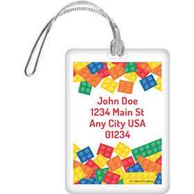 Block Party Personalized Luggage Tag (Each)
