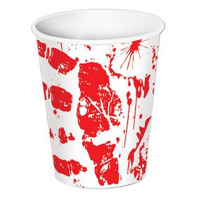 Bloody Handprints 9oz Paper Cups (8)