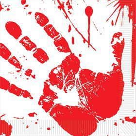 Bloody Handprints Luncheon Napkins (16)