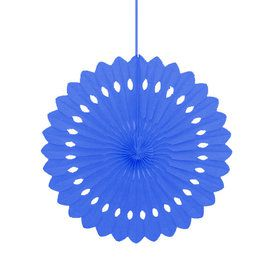 "Blue 16"" Decorative Fan Decoration (Each)"