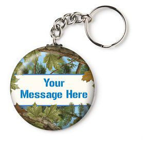 "Blue Camo Personalized 2.25"" Key Chain (Each)"