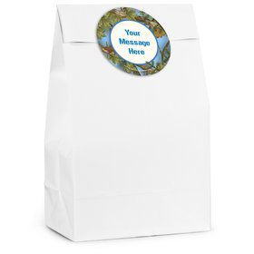 Blue Camo Personalized Favor Bag (12 Pack)