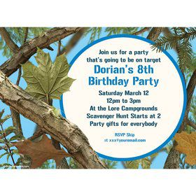 Blue Camo Personalized Invitation (Each)