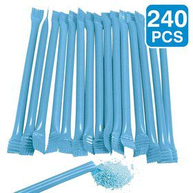 "Blue Candy Filled 6"" Straws (240 Pack)"