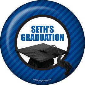Blue Caps Off Graduation Personalized Magnet (Each)