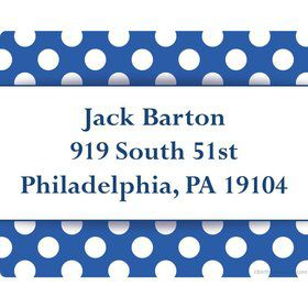 Blue Dots Personalized Address Labels (Sheet of 15)