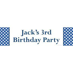 Blue Dots Personalized Banner (Each)
