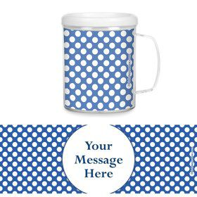 Blue Dots Personalized Favor Mugs (Each)