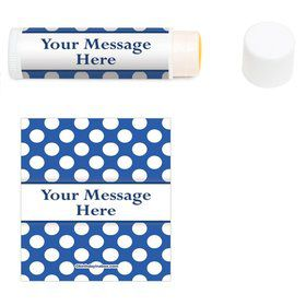 Blue Dots Personalized Lip Balm (12 Pack)