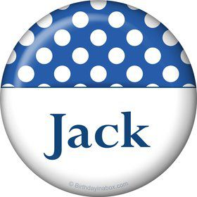 Blue Dots Personalized Magnet (Each)