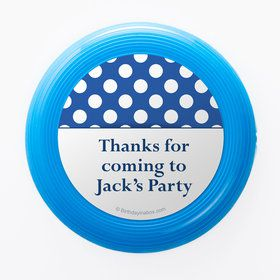 Blue Dots Personalized Mini Discs (Set Of 12)