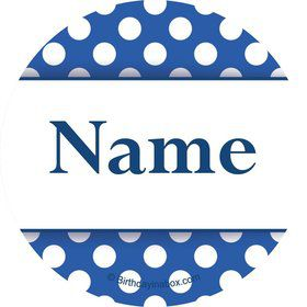 Blue Dots Personalized Mini Stickers (Sheet of 24)