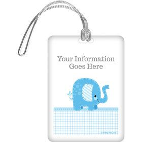 Blue Elephant Personalized Bag Tag (Each)