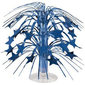 "Blue Foil 8 1/2"" Cascade Centerpiece (Each)"
