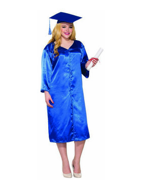 Blue Graduation Adult Robe - One-Size